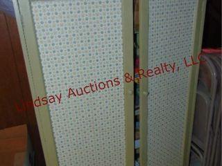Green 2 door cabinet  NO CONTENTS  39x13 5x60