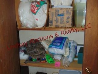 CONTENTS in closet  white fluff stuffing   others