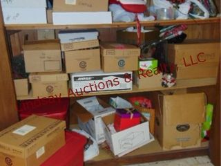 large group of misc Christmas Holiday decor items
