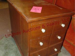 Wood 2 drawer file cabinet 18x28x23