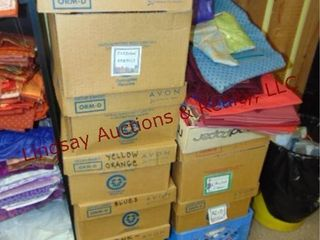 16 boxes of quilt fabric