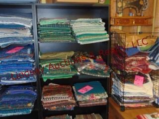 5 tier shelf WITH CONTENTS  quilt fabrics