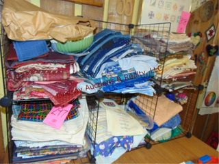 Rack WITH quilt fabric