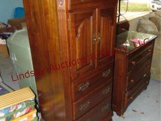 Wood 4 drawer 2door lingerie dresser 24x17x54