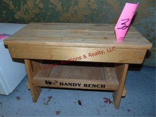 wood bench 23x11x15