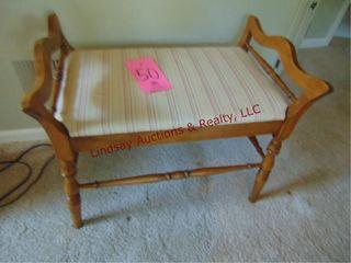 Wood bench w  cushion