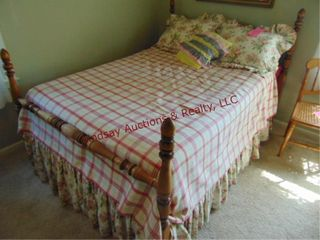 Full size bed frame  mattress  boxsprings