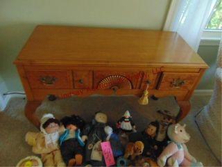 Wood 5 drawer sofa wall table 43x18 5x29
