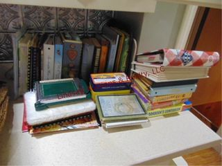 Group of books  cookbooks   other