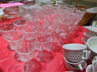 21 pcs of wine glasses