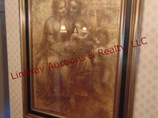 large framed picture  Virgin and Child