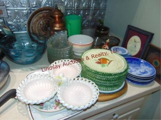 Approx 60 pcs misc dishes  bowls  plates