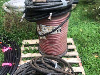 Red Heavy duty industrial hose. Goodyear...