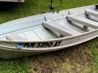 14 Foot Aluminum Smoker Craft Fishing bo...