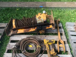 Wire Rope on a Braden Winch and a bundle of w...