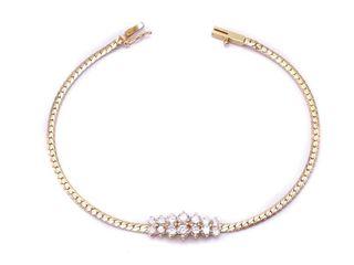 Ladies 1 Carat Diamond Estate Bracelet in 14k Yellow Gold; $3725