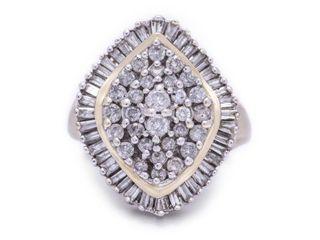 Large 2 Carat Layered Cluster Diamond Estate Ring in 14k Yellow Gold; $3300 Appraisal