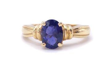 Beautiful Natural Blue 1.14 Carat Sapphire Estate Ring in 14k Yellow Gold; $2400 Appraisal