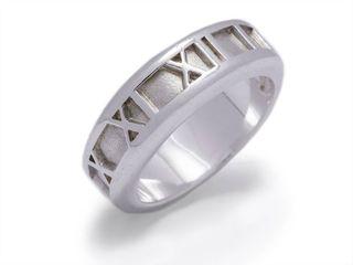Tiffany & Co Atlas Estate Ring in Sterling Silver; $600