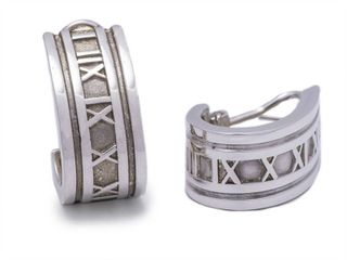Tiffany & Co Atlas Estate Earrings in Sterling Silver; $750