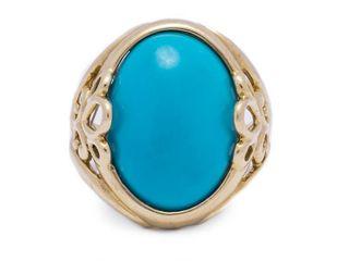8.5 Carat Turquoise Estate Ring in 14k Yellow Gold; $2000 Appraisal