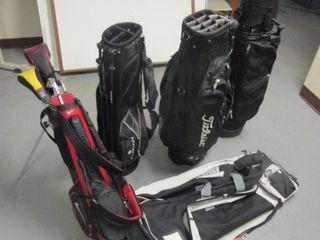GOLF CLUB TRAVEL LUGGAGE AND OTHER GOLF EQUIPMENT, GOLF BAGS, CHILD CLUBS AND BAG, PRACTICE NET