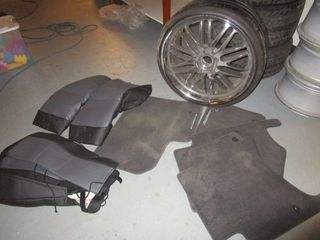 HONDA ACCORD COUPE LEATHER SEAT COVERS - NEW, PORSCHE FLOOR MATS, RIM