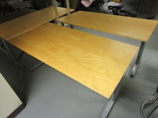 IKEA TABLES, WITH ADJUSTABLE HEIGHT