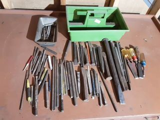 Large Assortment Of Chisels & Punches