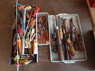 Large Assortment Of Screw Drivers