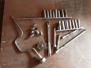 Assorted 3/8 Drive Sockets, Extensions, More-Craftsman & Others