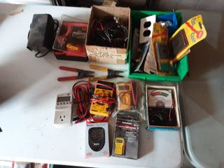 Lot Of Electrical Multi Meters & More