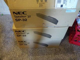 3 NEW IN BOX NEC SPEAKERS