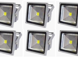 NEW (6) 50 WATT LED FLOOD LIGHT 50WFLOOD