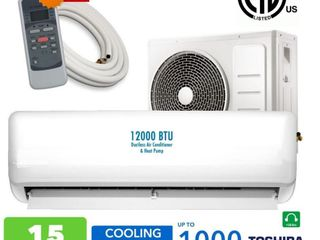 NEW 12000 BTU DUCTLESS AIR CONDITIONER HEAT SPLIT 110V YS12B