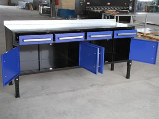 NEW STEEL WELDING TABLE & TOOL BENCH BLUE