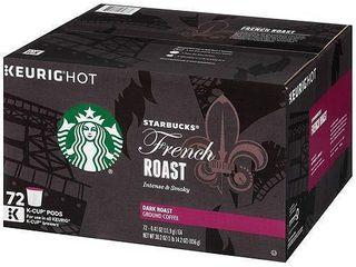 Starbucks French Roast K Cup Dark Roast Coffee K Cup Pods, 72 ct