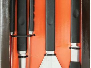 Mr. Bar-B-Q, Inc. 02466Y Plastic Finger Grip 4-Piece Tool Set
