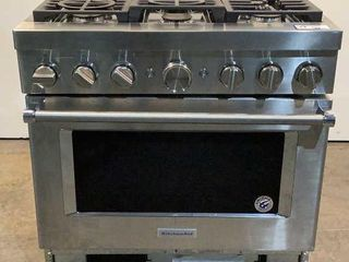 *NEW* Kitchen Aid Natural Gas Stove Top Oven KFDC5