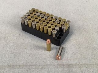 50 Ct. Reloaded assorted casings 45 Colt