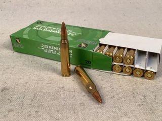 20 Ct. Monarch 55 Gr. FMJ 223 Remington