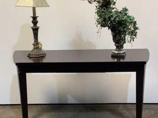 Foyer Table, Lamp, & Artificial Plant