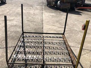 (8) Metal Frame Pallet Stands