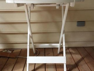 Lot # 4235 - White wooden slat style folding