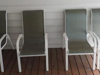 Lot # 4240 - Set of (4) Contemporary patio chairs