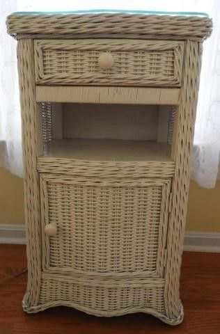 Lot # 4245 - Contemporary white wicker single
