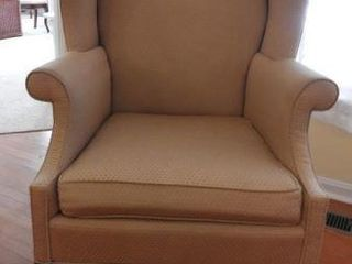 Lot # 4246 - Upholstered wingback chair with