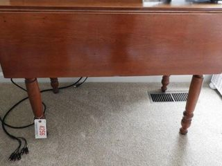 Lot # 4256 - Cherry drop leaf table 28? x 36?
