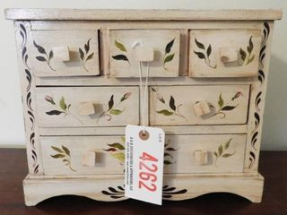 Lot # 4262 - Contemporary seven drawer paint