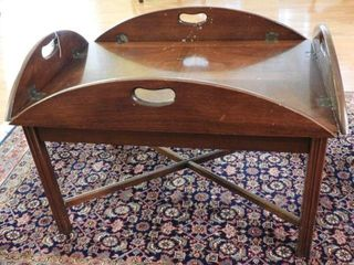 Lot # 4278 -Mahogany Butlers style folding